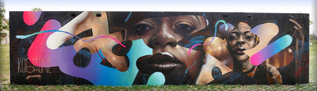 Spray sur mur – Constellations de Metz